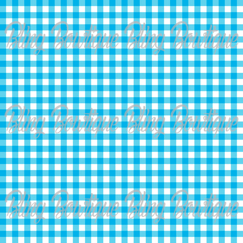 Gingham 1 Glitter Canvas, Regular Canvas, Faux Leather For Bows