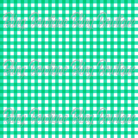 Gingham 4 Glitter Canvas, Regular Canvas, Faux Leather For Bows