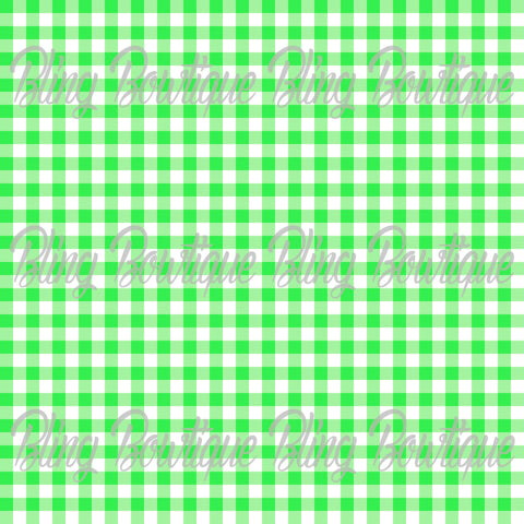 Gingham 5 Glitter Canvas, Regular Canvas, Faux Leather For Bows