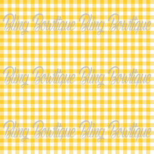 Gingham 6 Glitter Canvas, Regular Canvas, Faux Leather For Bows