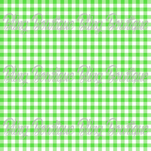 Gingham 7 Glitter Canvas, Regular Canvas, Faux Leather For Bows