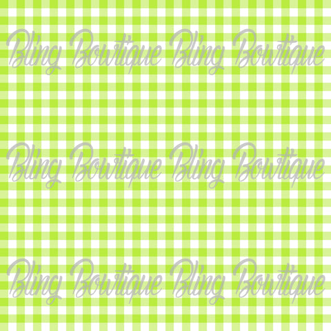 Gingham 8 Glitter Canvas, Regular Canvas, Faux Leather For Bows