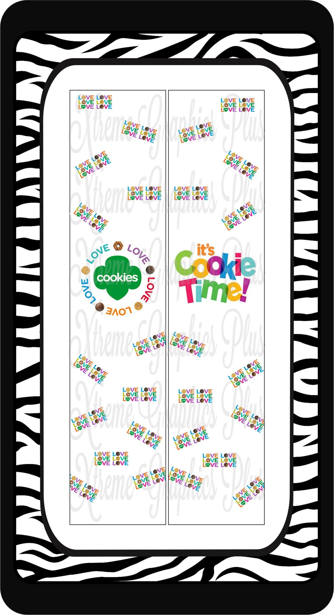 Girl Scout Cookie 2 Ready to Press Sublimation Bow Strips