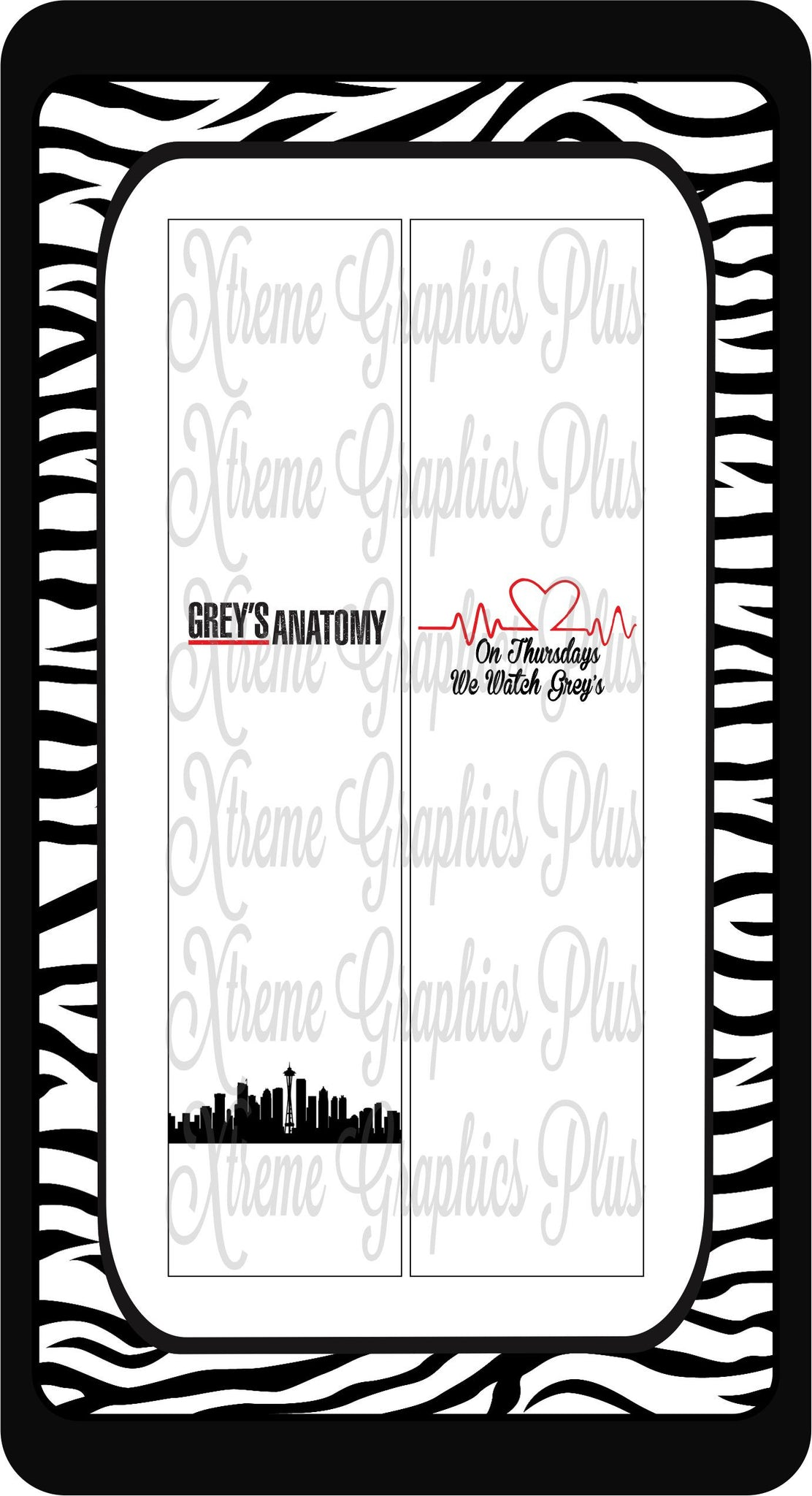 Grey's Anatomy Sublimation Bow Strips Download
