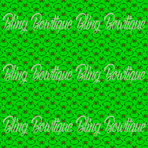 Grinch Face Glitter Canvas, Regular Canvas, Faux Leather For Bows