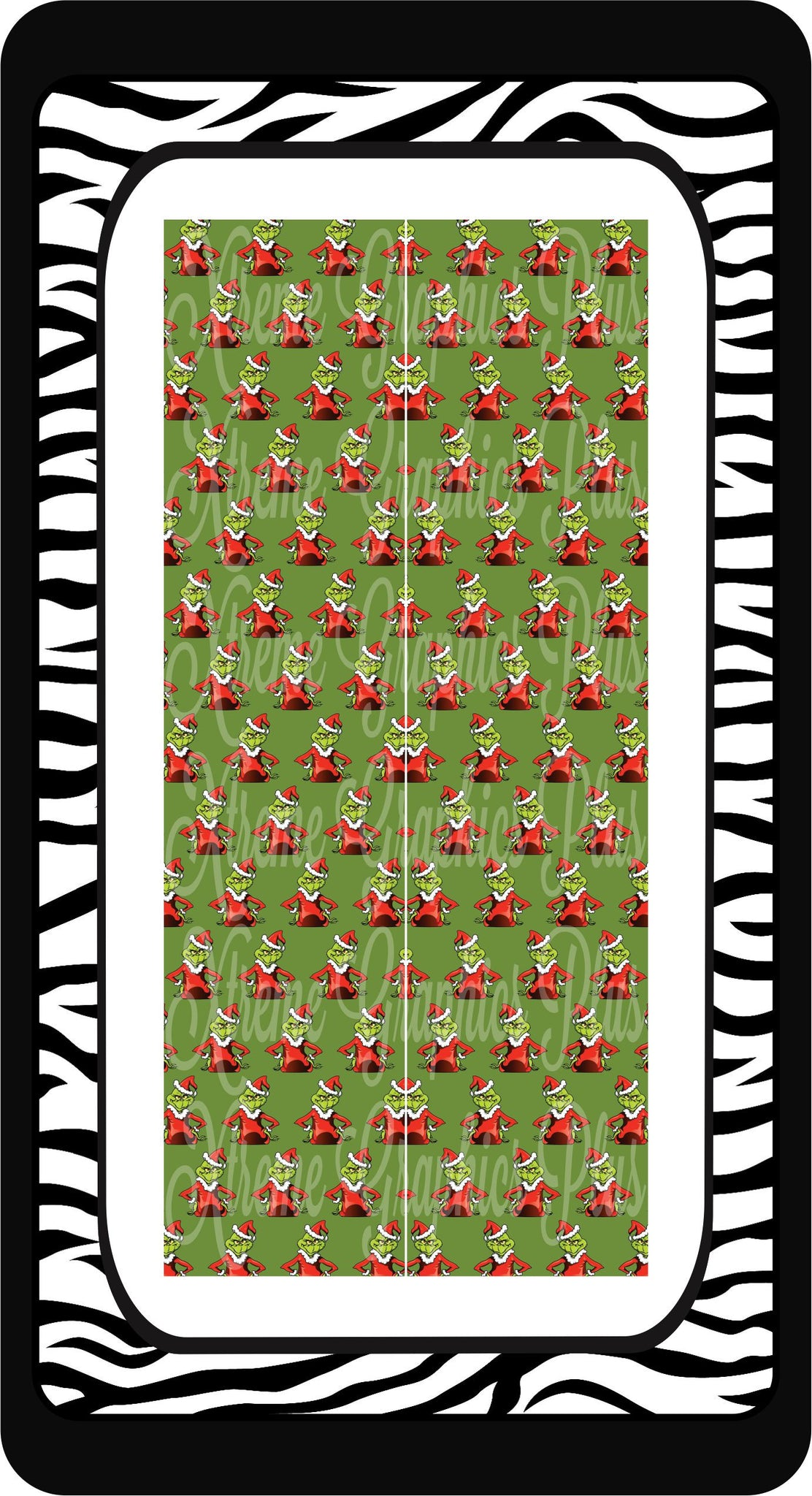Grinch Sublimation Bow Strips Download