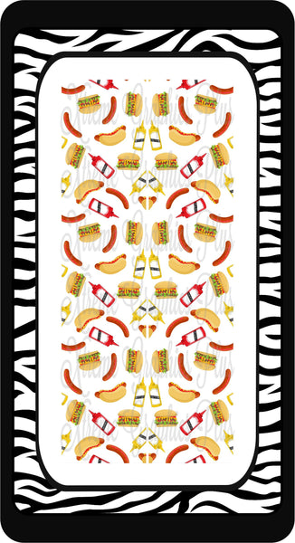 Hot Dogs & Hamburgers Sublimation Bow Strips Download