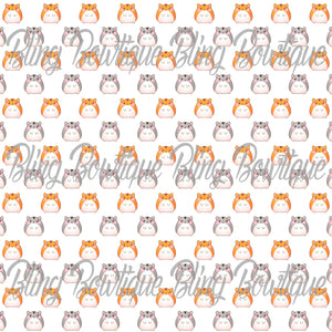 Hamsters Printed Glitter Canvas, Regular Canvas, Faux Leather For Bows