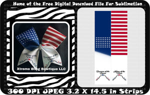 Home Of The Free Sublimation Cheer Bow Download File
