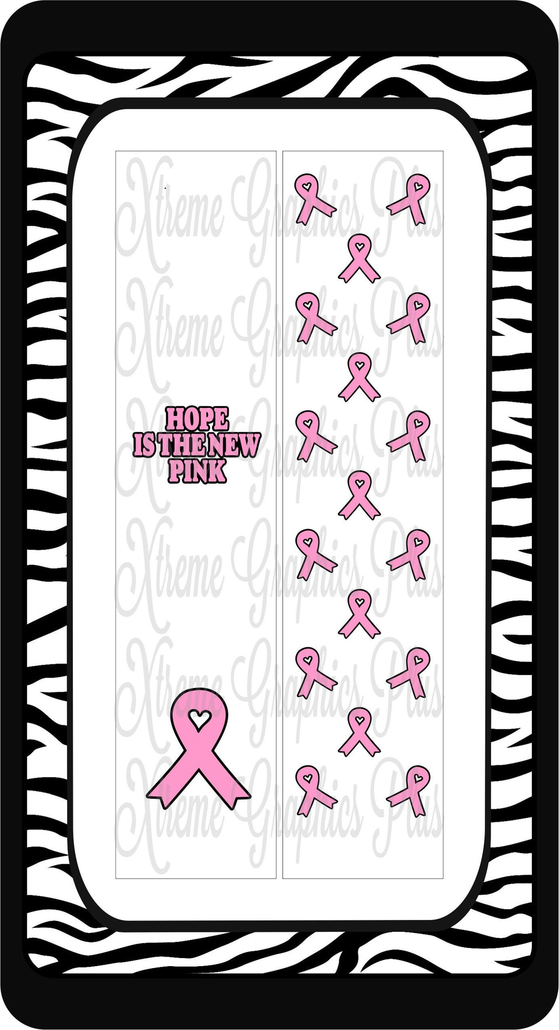 Hope Is The New Pink (White) Sublimation Bow Strips Download