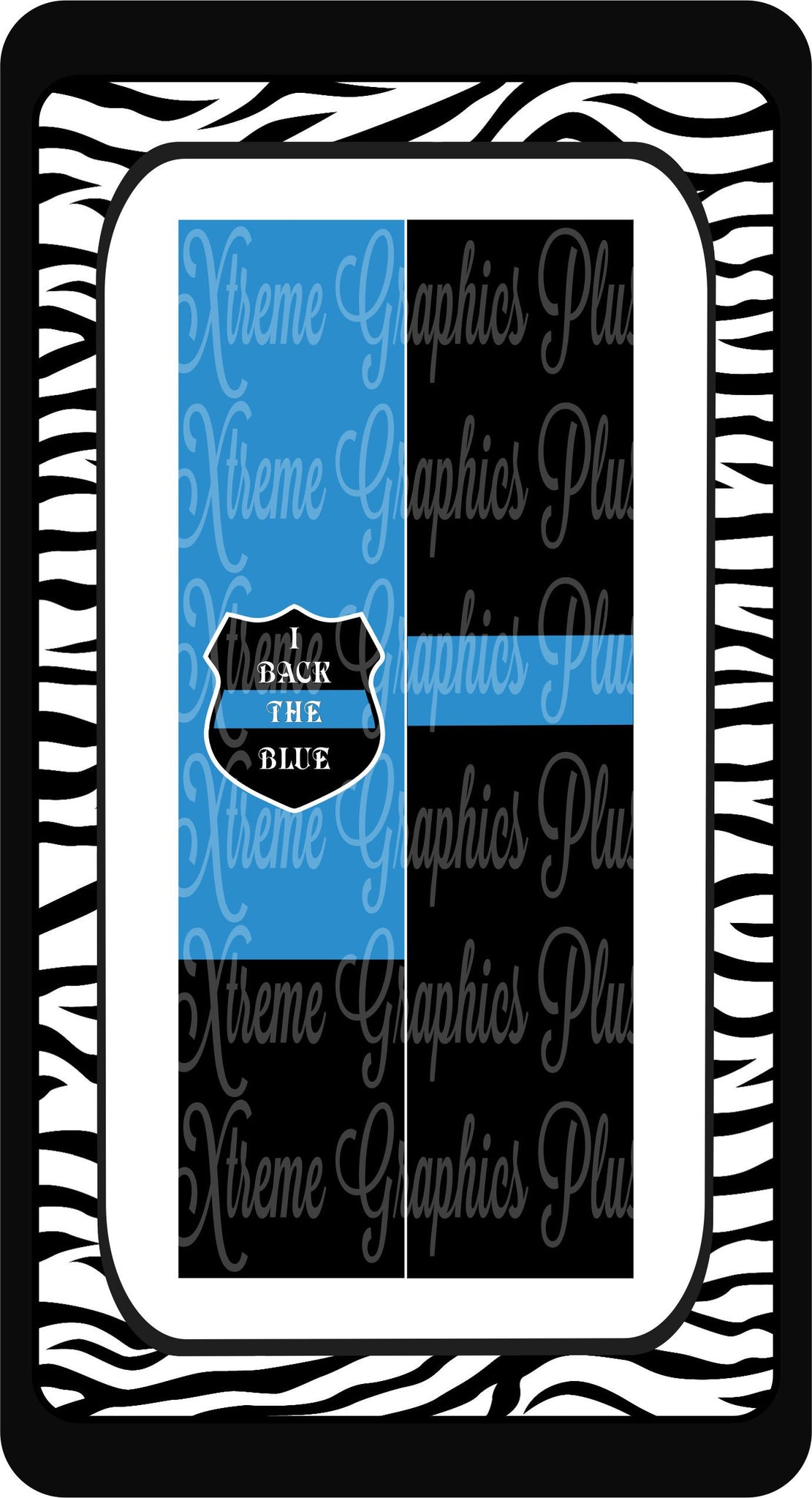 I Back the Blue Sublimation Bow Strips Download