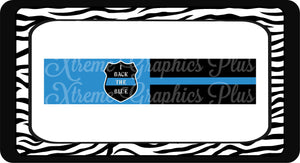 I Back The Blue Tail-less/Tuxedo Sublimation Bow Strips Download