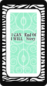 I Can I Will End Of Story Ready to Press Sublimation Bow Strips