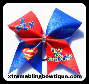 Cheer Bow --I Fly What's Your Superpower?