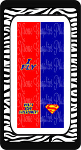 I Fly Whats Your Superpower Ready to Press Sublimation Bow Strips