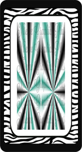 Kaleidoscope Black Seafoam & White Sublimation Bow Strips Download