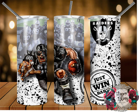 Las Vegas Raiders (C) Ready To Press Sublimation Print for 20oz Straight Skinny Tumbler or 20oz Tapered Skinny Tumbler (W)