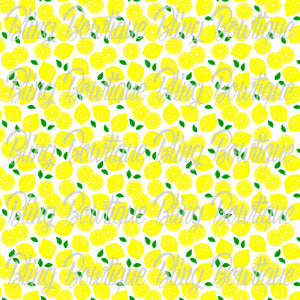 Lemons Printed Glitter Canvas, Regular Canvas, Faux Leather For Bows