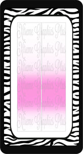 Light Pink Center Fade Ready to Press Sublimation Bow Strips