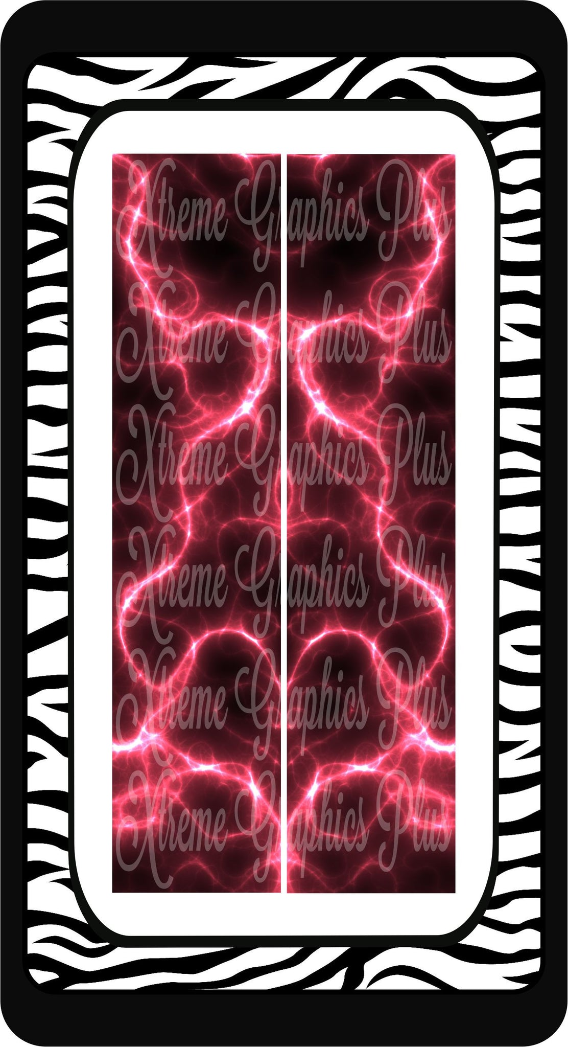 Pink Lightning Sublimation Bow Strips Download