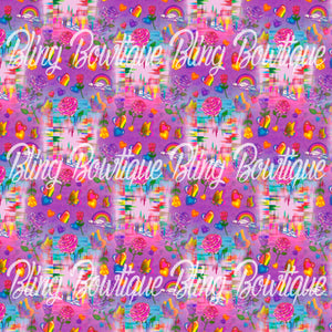 Lisa Frank Glitter Canvas, Regular Canvas, Faux Leather For Bows