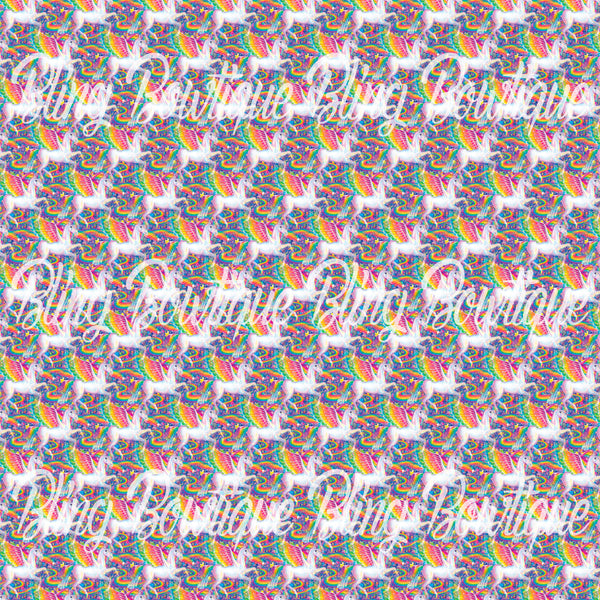 Lisa Frank Pegasus Glitter Canvas, Regular Canvas, Faux Leather For Bows