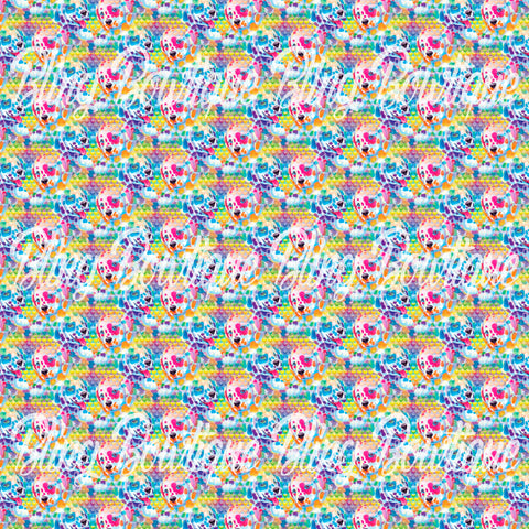 Lisa Frank Puppies Glitter Canvas, Regular Canvas, Faux Leather For Bows
