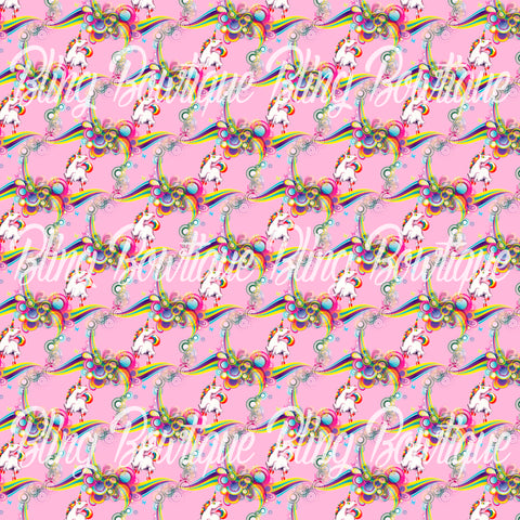 Lisa Frank Unicorn Glitter Canvas, Regular Canvas, Faux Leather For Bows