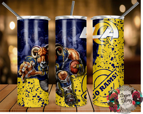 Los Angeles Rams (C) Ready To Press Sublimation Print for 20oz Straight Skinny Tumbler or 20oz Tapered Skinny Tumbler (W)