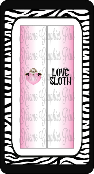 Love Sloth Sublimation Bow Strips Download