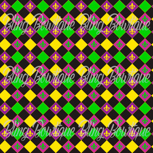 Mardi Gras 3 Glitter Canvas, Regular Canvas, Faux Leather For Bows