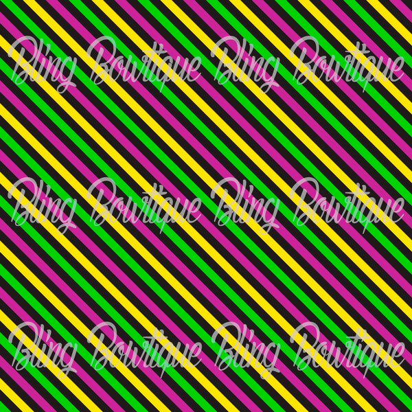Mardi Gras 4 Glitter Canvas, Regular Canvas, Faux Leather For Bows