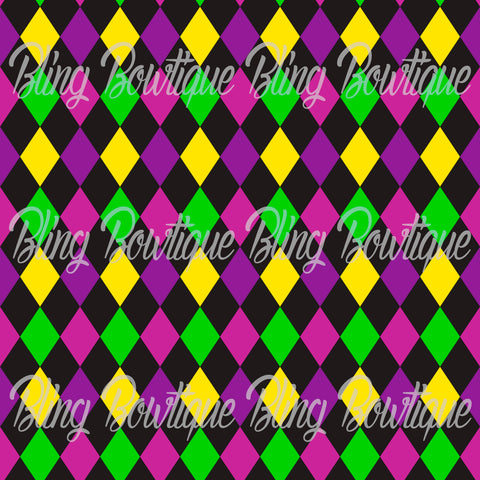 Mardi Gras 5 Glitter Canvas, Regular Canvas, Faux Leather For Bows
