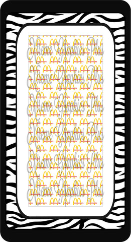 McDonalds Sublimation Bow Strips Download