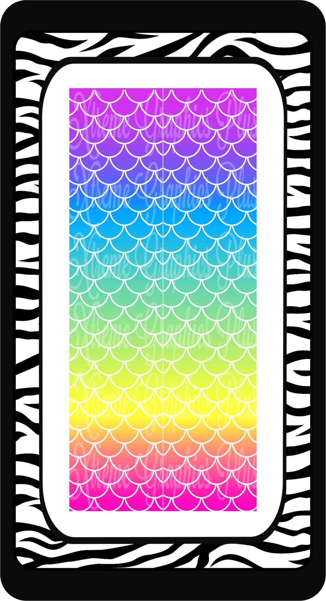 Mermaid Pastel Ombre Ready to Press Sublimation Bow Strips