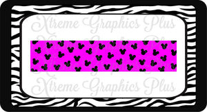 Mickey Tail-less/Tuxedo Ready to Press Sublimation Bow Strips