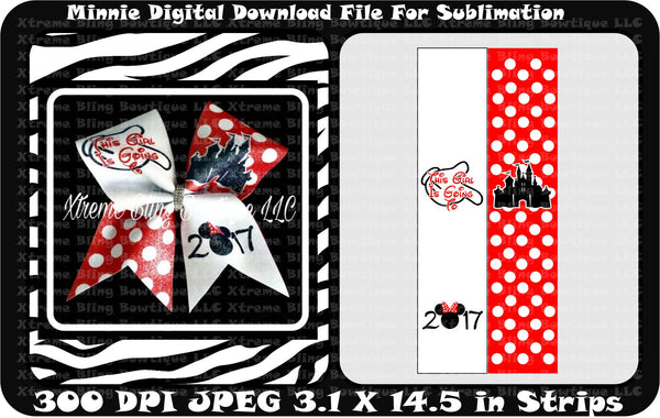 This Girl is Going to Disney Cheer Bow Sublimation Strips Download File