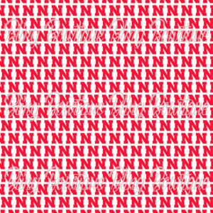 Nebraska Corn Huskers Glitter Canvas, Regular Canvas, Faux Leather For Bows