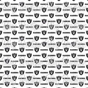 Oakland Raiders 2 (smaller print)  Printed Glitter Canvas, Regular Canvas, Faux Leather For Bows
