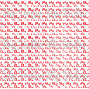 Ohio State Script Logo Glitter Canvas, Regular Canvas, Faux Leather For Bows