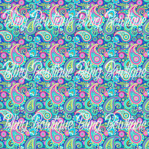 Paisley 14 Glitter Canvas, Regular Canvas, Faux Leather For Bows