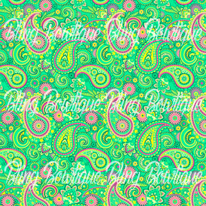 Paisley 17 Glitter Canvas, Regular Canvas, Faux Leather For Bows
