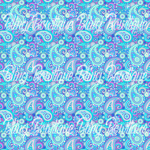 Paisley 19 Glitter Canvas, Regular Canvas, Faux Leather For Bows
