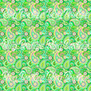 Paisley 21 Glitter Canvas, Regular Canvas, Faux Leather For Bows
