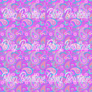 Paisley 2 Glitter Canvas, Regular Canvas, Faux Leather For Bows