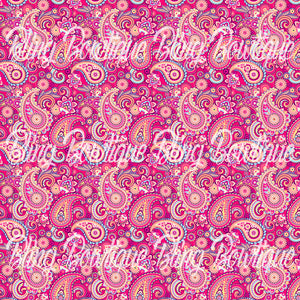 Paisley 3 Glitter Canvas, Regular Canvas, Faux Leather For Bows