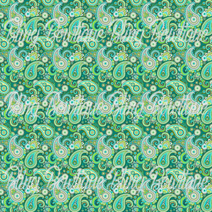 Paisley 4 Glitter Canvas, Regular Canvas, Faux Leather For Bows