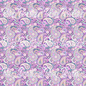 Paisley 9 Glitter Canvas, Regular Canvas, Faux Leather For Bows