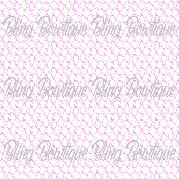 Pastel Chicks Glitter Canvas, Regular Canvas, Faux Leather For Bows