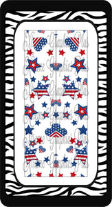 Patriotic Stars & Hearts Ready to Press Sublimation Bow Strips